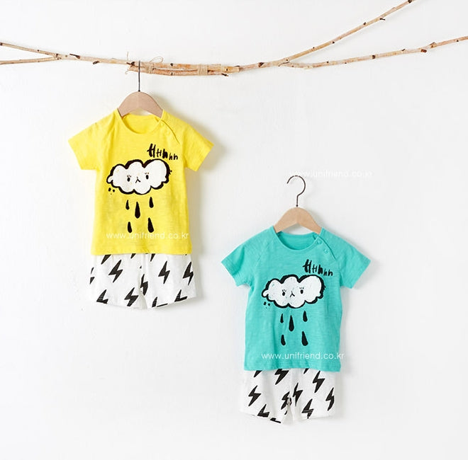 1-8Y Kid Homewear 2pcs Set by Korea uniFriend A4043B