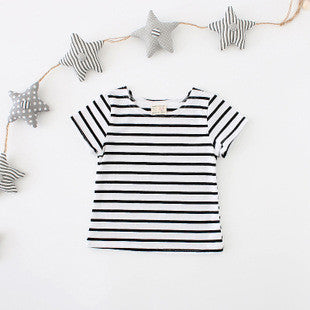 1-4Y Girls Stripes Short-Sleeve Shirt A202M