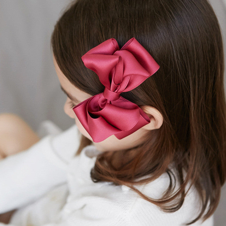 100% Handmade Kids Large Red Wine Hairclips A323G103H