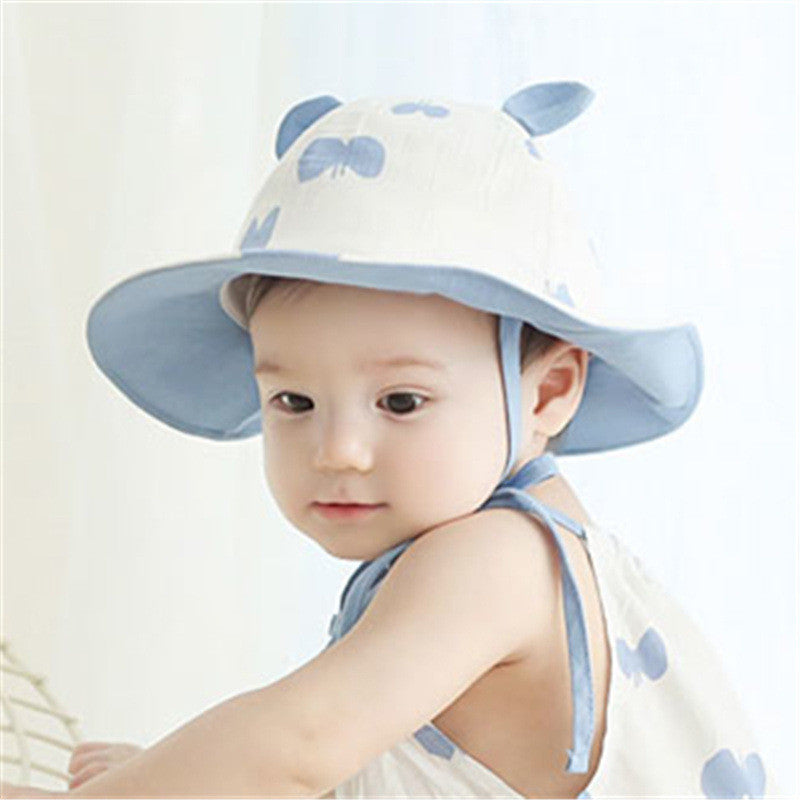 Baby Toddler Sun Protection Hat A3245L – Pocketpig Diary 3d34305e4f2
