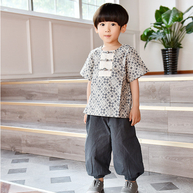 2-10Y Boys Designer Series Chinese New Year Top A100C14C