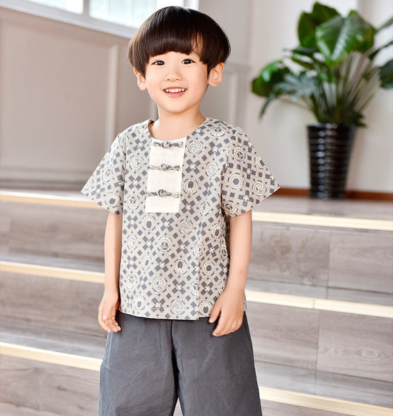 3-8Y Boys Designer Series Chinese New Year outfit C2002E