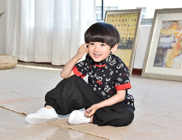 2-10Y Boys Designer Series Chinese New Year Top A100C16H