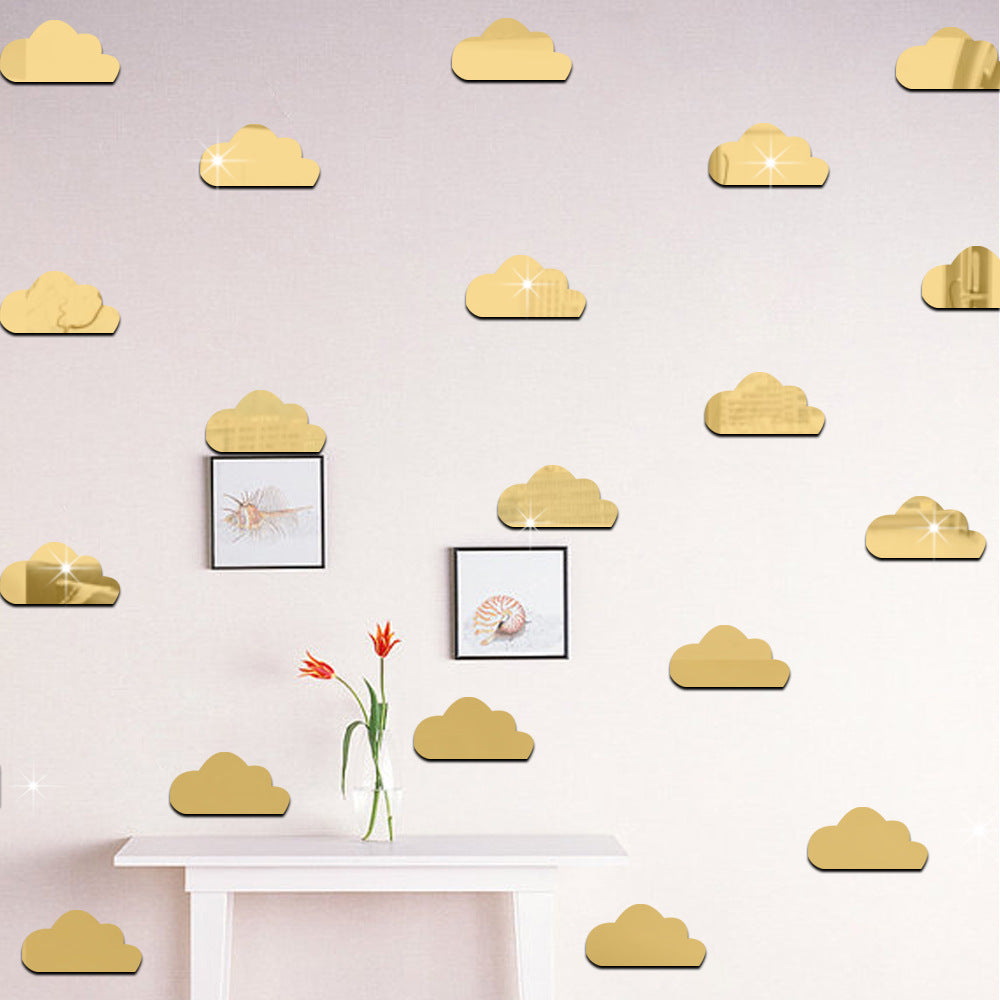 Mirror Wall Sticker Decal A6073A Gold / A6073B Silver