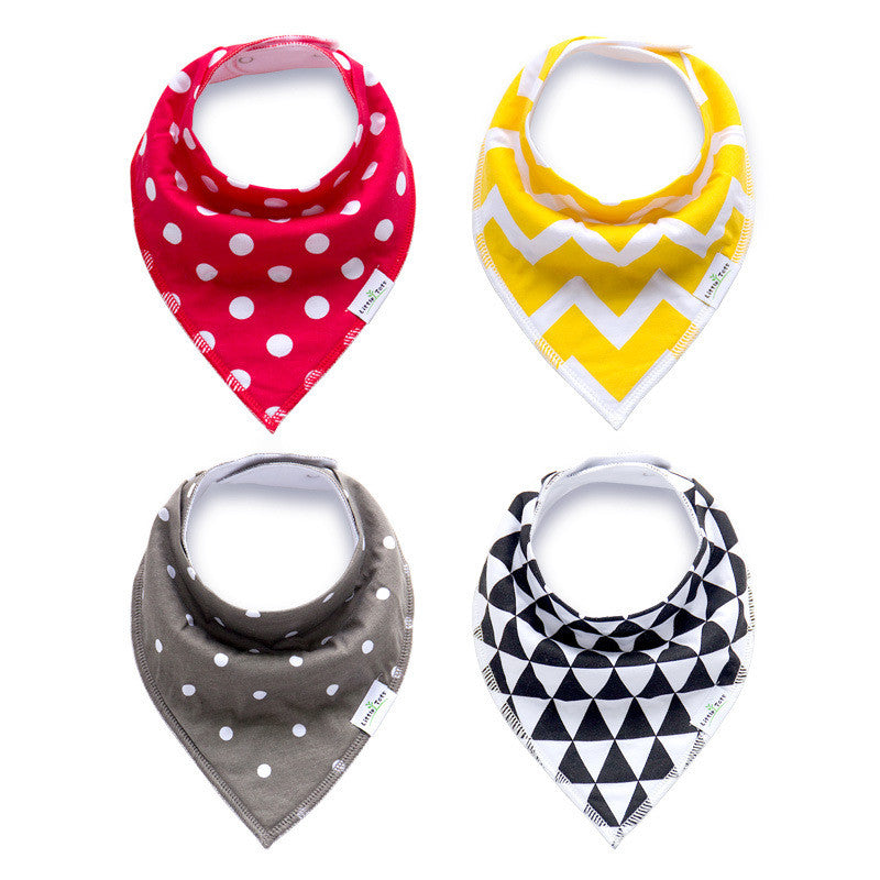 Set of 4 Matimati Baby Bandana Drool Bibs with Adjustable Snaps A321BC