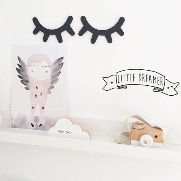 Wooden Sleepy Eyes wall decor for babies and kids rooms H625A