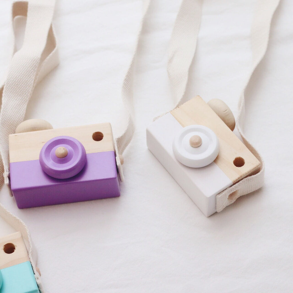 Natural Wooden Camera Toys 4 colours available K309