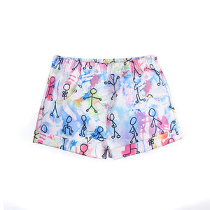 1-6Y Girls Colourful Shorts A2046A