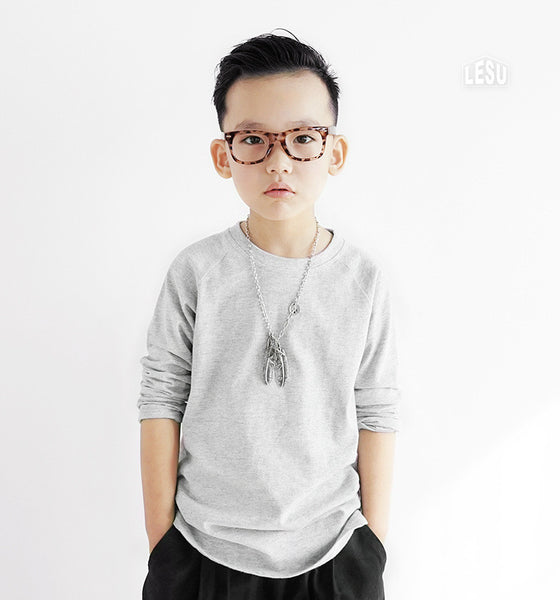 3-12Y Boys Grey Shirt by LESU A1044H
