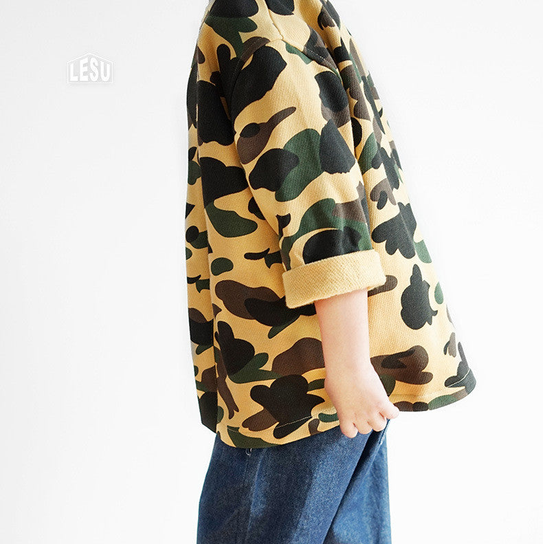 3-12Y Camouflage Army Jacket by LESU A108H