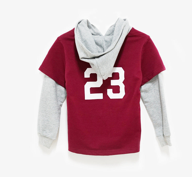 3-12Y Red Sporty Hoodie by LESU A1044K
