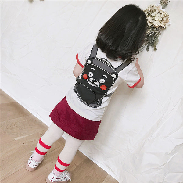 1-8Y Kids Backpack Shirt A10411D