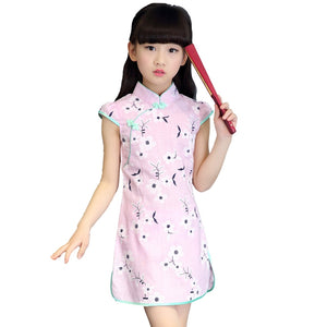 3-10Y Girls Cheongsam Dress A200C19L