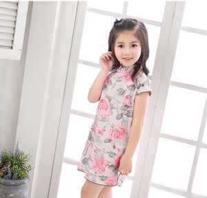 2-10Y Girls Cheongsam Dress A200C62K
