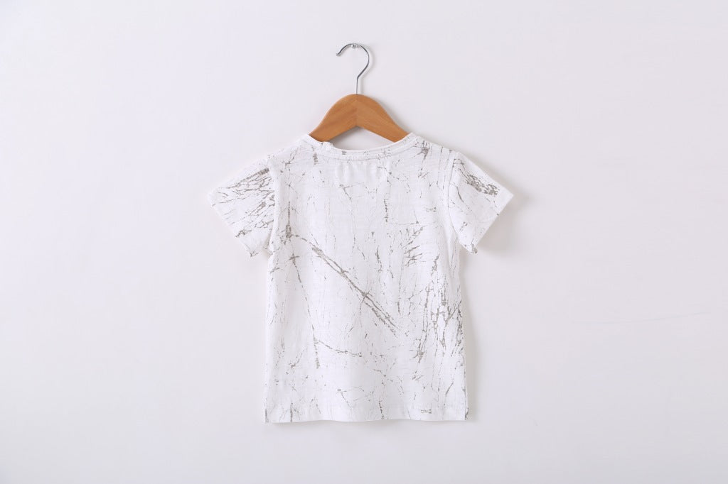 2-7Y Kids Marble Prints Shirts A10412K
