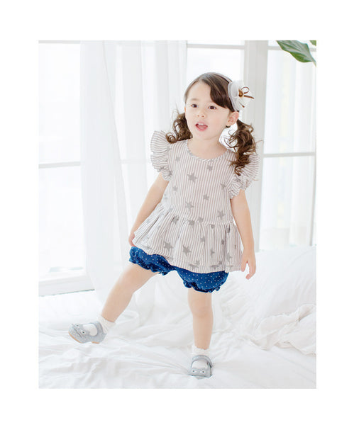 1-6Y Girls Grey Stars Dress A2012J