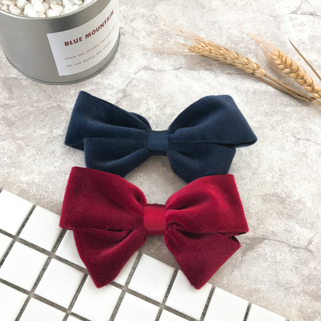 100% Handmade Kids Navy Blue Hairclips A323G103F