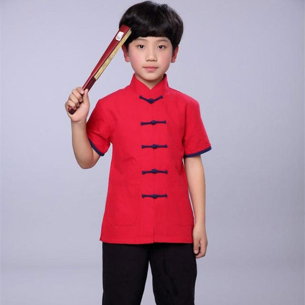 2-10Y Boys Chinese New Year Top A100C16I (Father sizes available)