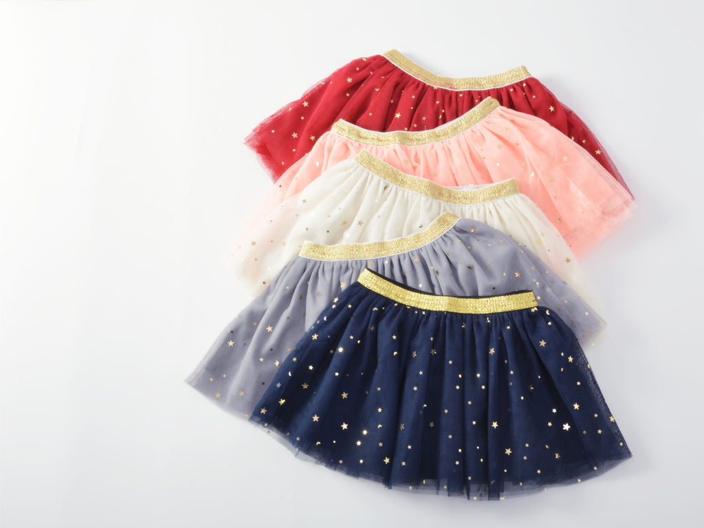 1-5Y Dark Blue Glitter Tutu Skirt A2042B