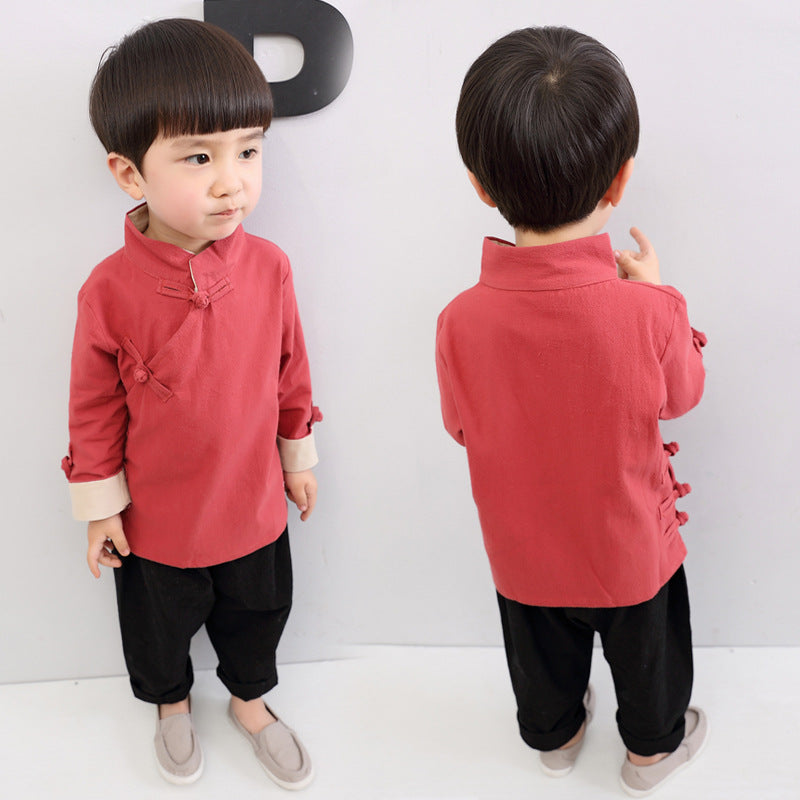 2-8Y Boys Kungfu Top A100C13D