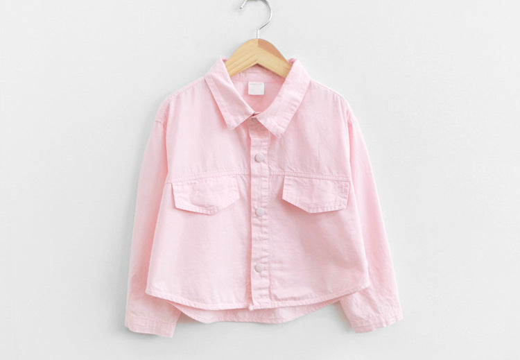 3-15Y Girls Korea Brand Pink Jacket A208M