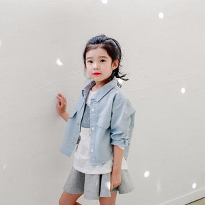 2-15Y Girls Korea Brand Blue Jacket A208N
