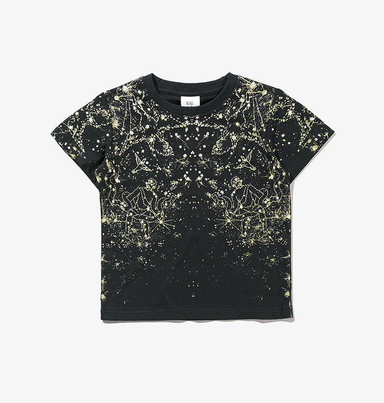 3-12Y Boys Black Horoscope Shirt by LESU A1044J