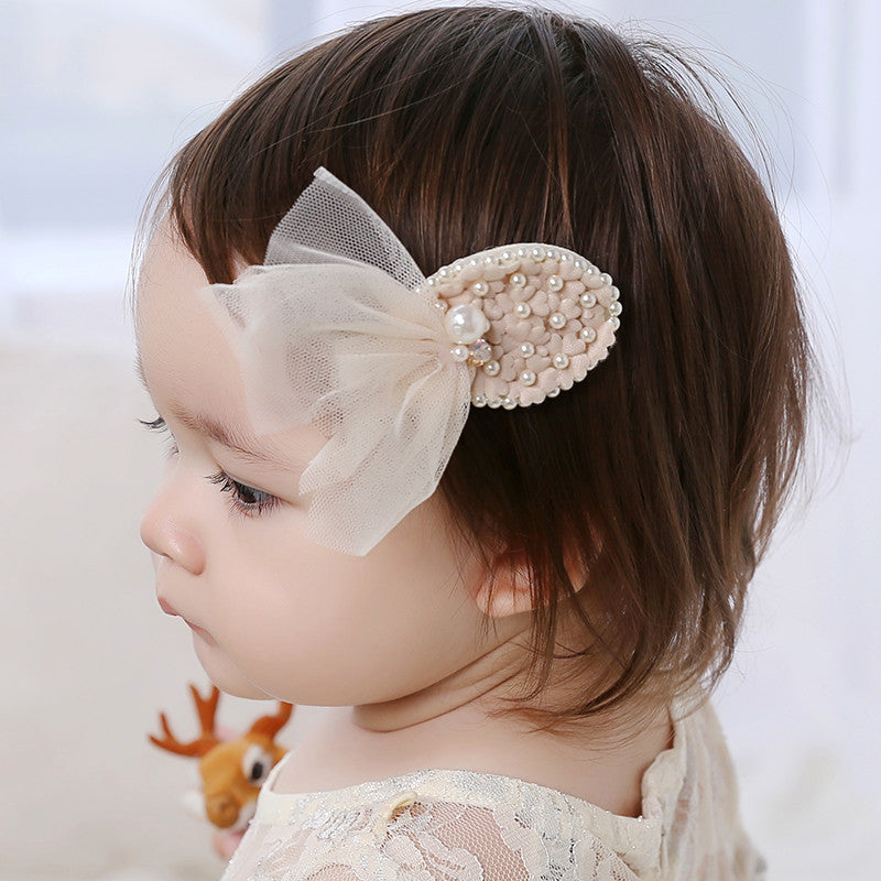 100% Handmade Kids Pearls Hairclips A323G82I