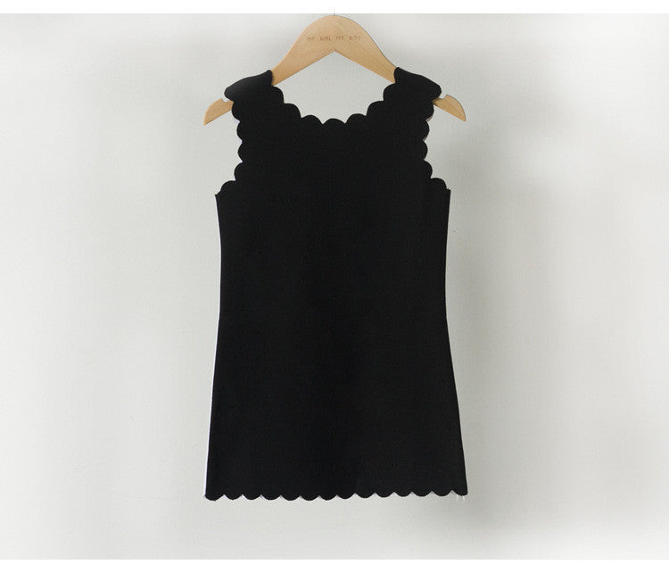 3-15Y Girls Reversible Black and White Dress G220E