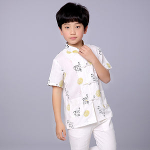 2-10Y Boys Chinese New Year Top A100C16D