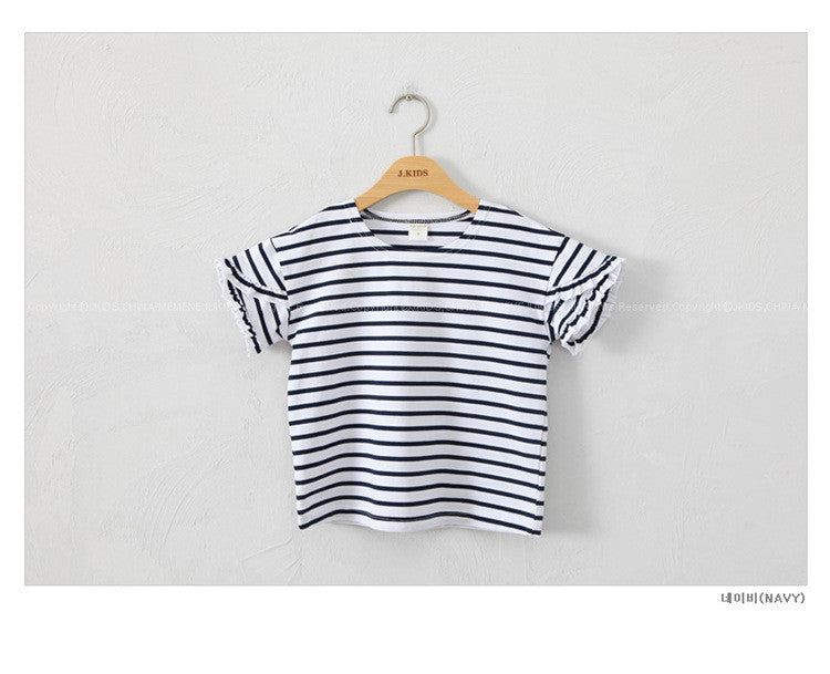 3-15Y Girls Stripes Shirt A2023J