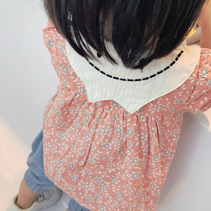 1-4Y Girls Orange Floral Dress A2022N