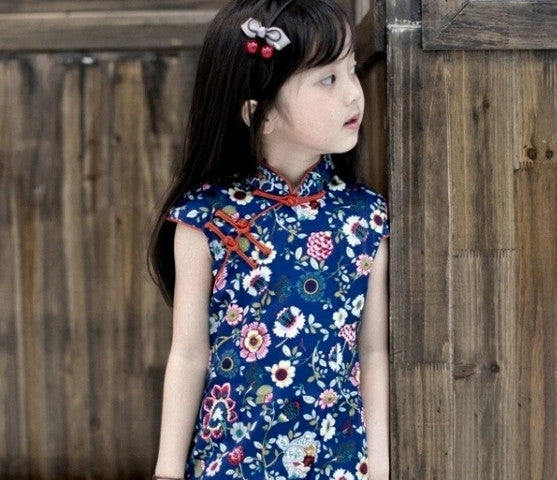 1-8Y Girls Cheongsam Dress A200C18B