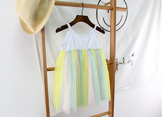1-4Y Girls Rainbow Dress G240O