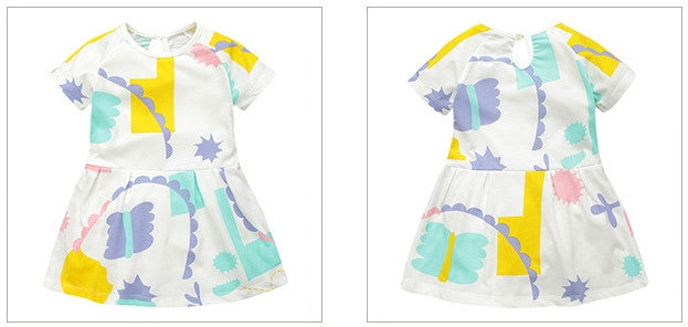 1-6Y Girls Little Maven Pattern Dress A2014C