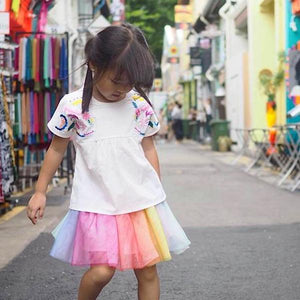 1-8Y Girls Rainbow Skirt A20411H