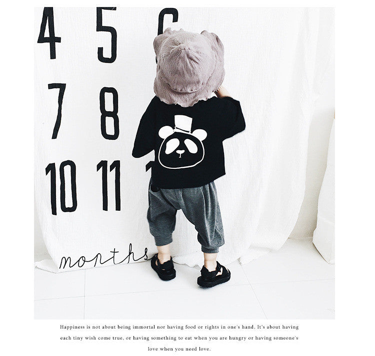 1-6Y Kids Harem Grey Pants A1035L