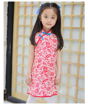1-10Y Girls Cheongsam Dress A200C62C