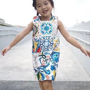 3-8Y Girls Penarakan Prints Dress A20128B