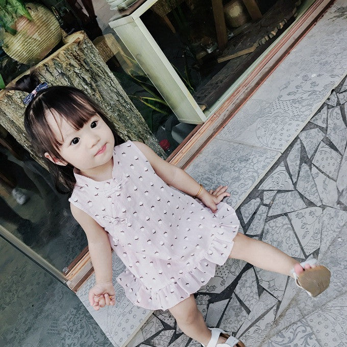 1-4Y Girls Cheongsam Dress A200C17A