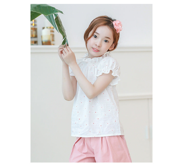 3-15Y Girls White Floral Off-Shoulder Blouse G212D (Mother sizes available)