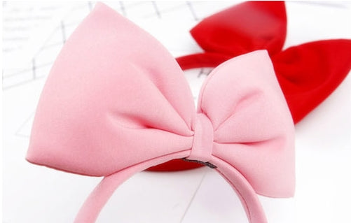 Kids Red Bow Headbands A323G3I