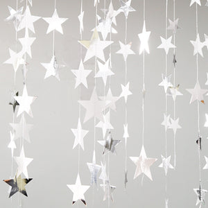 Shinning Mirror Silver Stars Decorations A706F / A706G