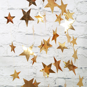 Shinning Mirror Gold Stars Decorations A706H / A706I