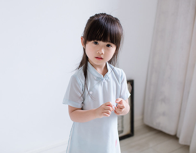 2-8Y Girls Cheongsam Dress Double Layers A200C12K (Mother Sizes Available)