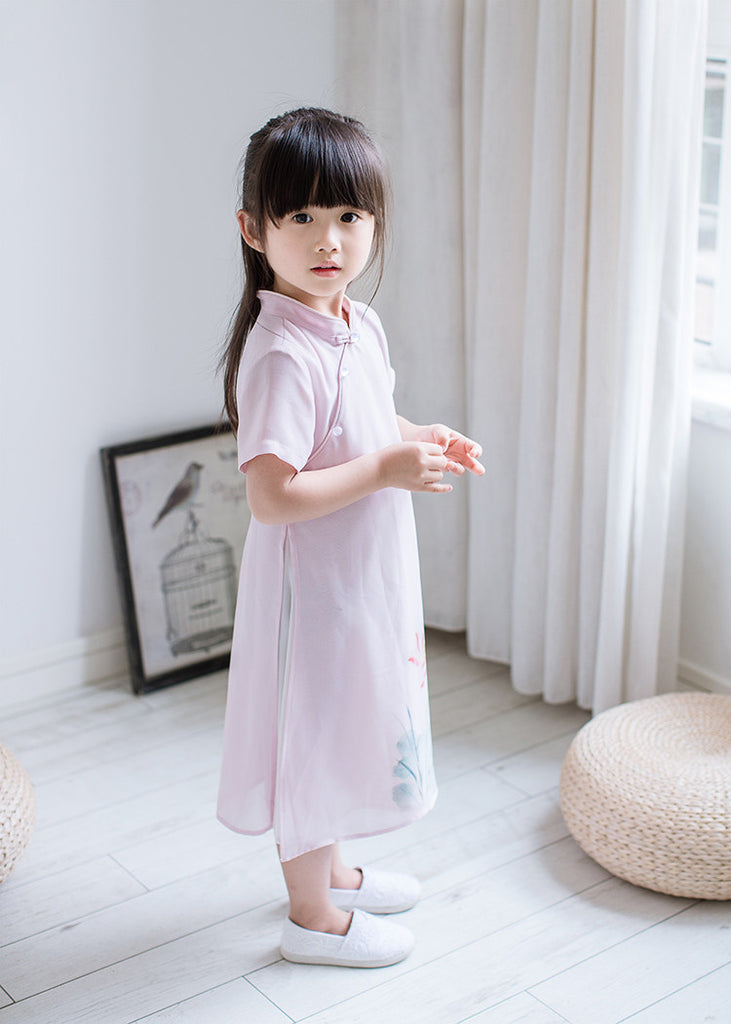 2-8Y Girls Cheongsam Dress Double Layers A200C12L