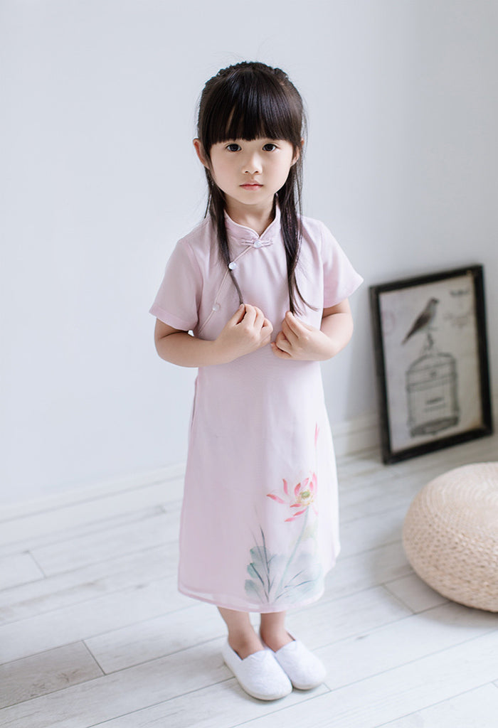 2-8Y Girls Cheongsam Dress Double Layers A200C12L (Mother Sizes Available)