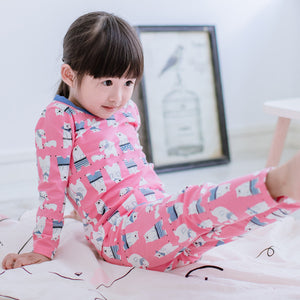 2-8Y Girls Pyjamas PJs 2pcs Set K2012H