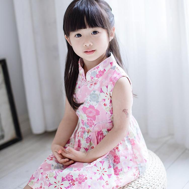 1-6Y Girls Cheongsam Flare Dress A200C11H
