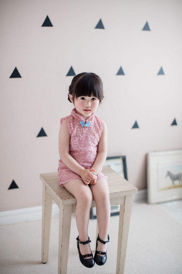 1-6Y Girls Lace Cheongsam Dress A200C12B